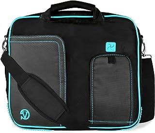 PINDAR Messenger Shoulder Carrying Bag Durable Case (Aqua Trim) For The Sylvania SDVD7014 7 inch Portable DVD Player