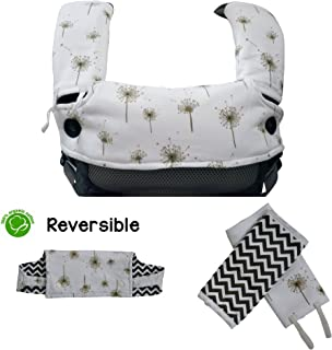 HnyBaby 有机棉水滴和出牙垫,带围嘴,专为 Ergobaby 设计 4 位置 360 婴儿背带——可反穿,超软吸水性3件套