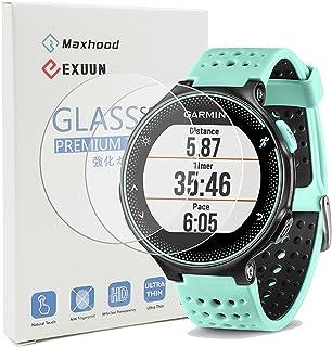 comprar comparacion Maxhood (2-Pack Garmin Forerunner 235 225 630 620 230 220 Protector de Pantalla de Cristal Templado, Real 0,26 mm 2.5d Rou...
