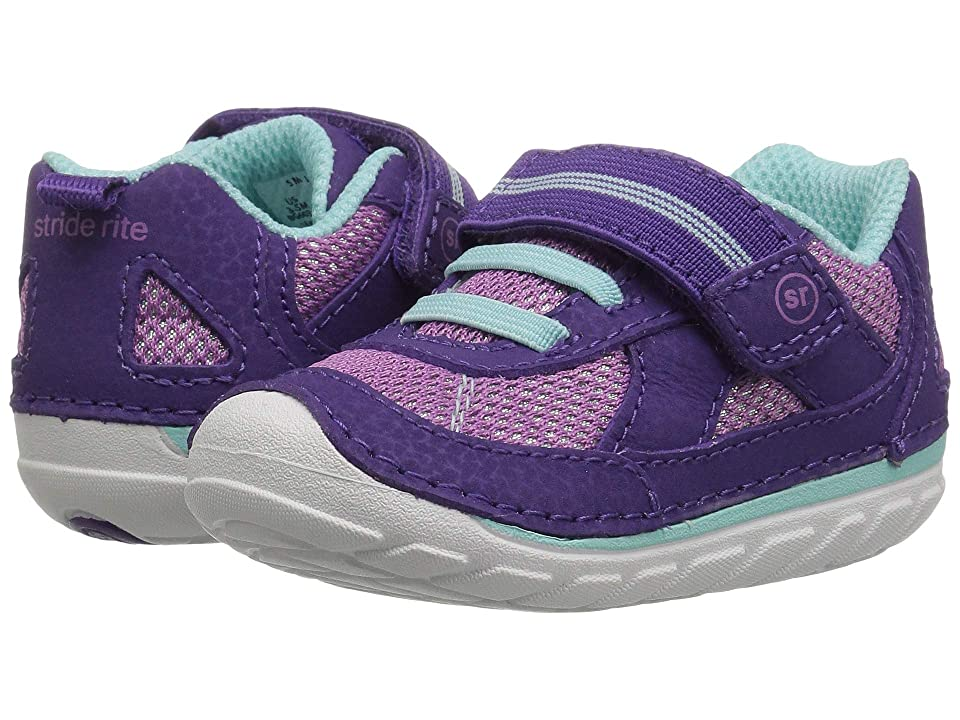 Stride Rite SM Jamie (Infant/Toddler) (Purple Leather) Girl