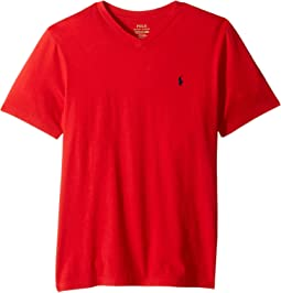 Polo Ralph Lauren Kids - Cotton Jersey V-Neck T-Shirt (Big Kids)