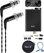 Etymotic Research ER4SR Noise-Isolating in Ear Monitors Bundle with Replacement Filters, FiiO E10K Black USB DAC and Headphone Amplifier, Blucoil Y Splitter Cable, and Portable Earphone Hard Case