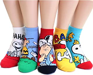 EVEI The Peanuts Snoopy Cartoon Movie Series Women's Original Socks