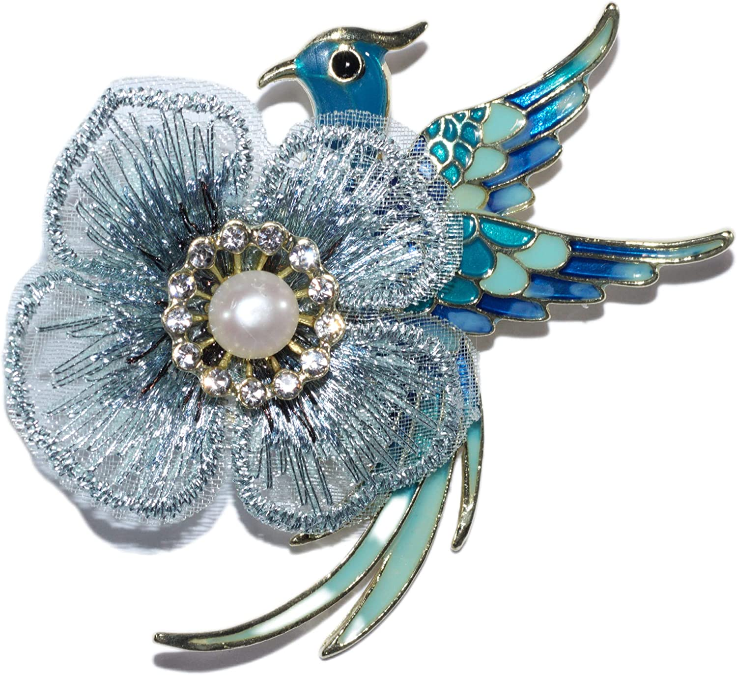 Max 82% OFF FlowerBird New product type Brooch Pin for Women Pearl with Freshwater Rhinesto