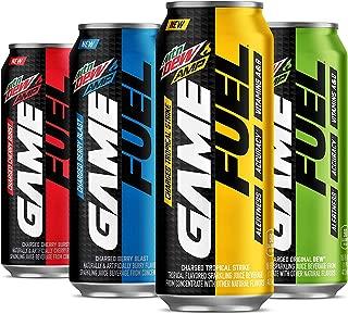 MTN DEW AMP GAME FUEL, 4 Flavor Variety Pack, 16fl.oz. (Pack of 4)