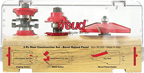 discount Freud 3 discount Piece Door Construction Bit sale Set (98-300) online sale
