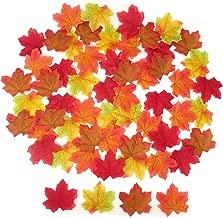 HONBAY 200 件 8 厘米多色人造枫木叶叶,适用于婚礼、派对、道具、工艺品
