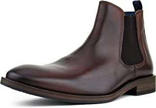 Asher Green AG6205 - Mens Dress Casual Boot Slip On, Double Gore High Top Chelsea Boot, Unique Subtle Burnishing Smooth Genuine Leather Handcrafted in Portugal