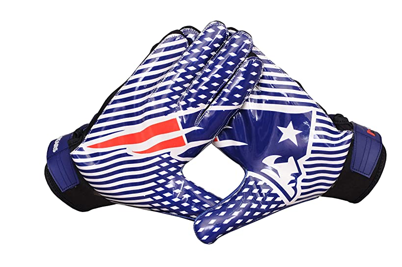 Lycos Gears New England Patriots NFL American Football Gloves with Glue Grip