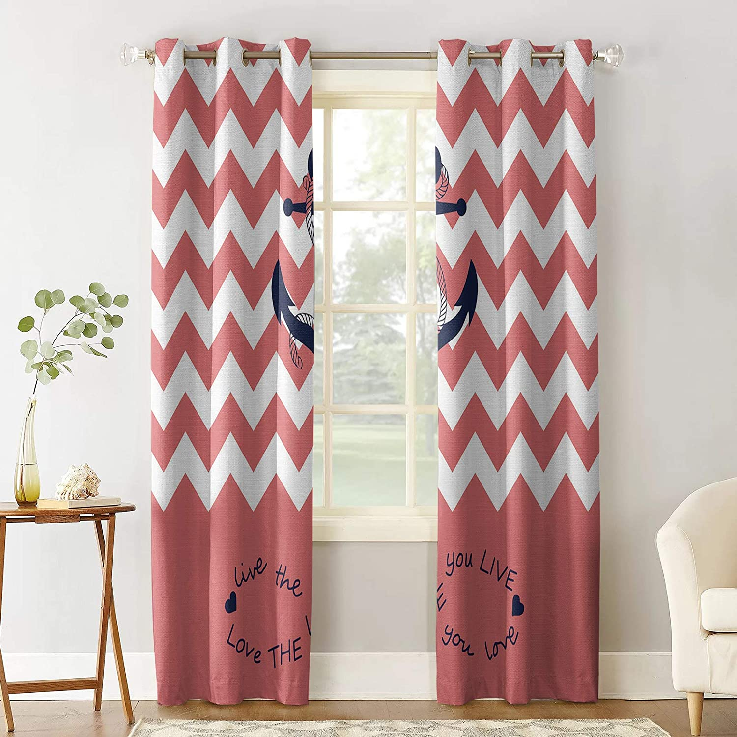 Prime Leader Blackout Curtain for Special sale item Bedroom The Nippon regular agency Life Y Quote Love