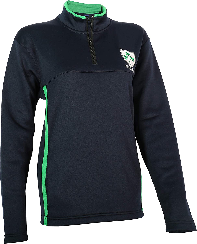 Malham USA Ladies Rugby Shamrock 1 4 Zip Mock Neck Activewear Jacket