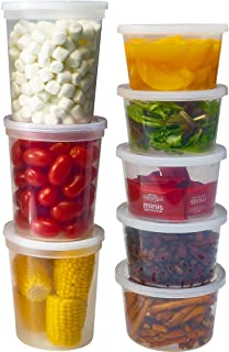 DuraHome Deli Containers with Lids for Food Storage Leakproof - 46 Sets BPA-Free Plastic Microwaveable Clear Food Storage ...