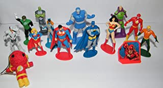 Justice League Deluxe Party Favors Goody Bag Fillers Set of 14 with Figures, Special Doll, ToyRing Featuring Superman, Batman, Wonder Woman, Flash and More!