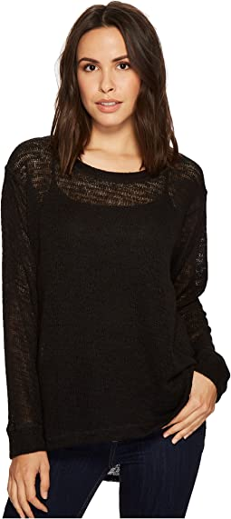 Nally & Millie - Light Sweater Cuff Sleeve Hi-Lo Tunic