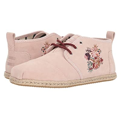 TOMS Bota (Medium Pink Floral Embroidery Suede Rope) Women