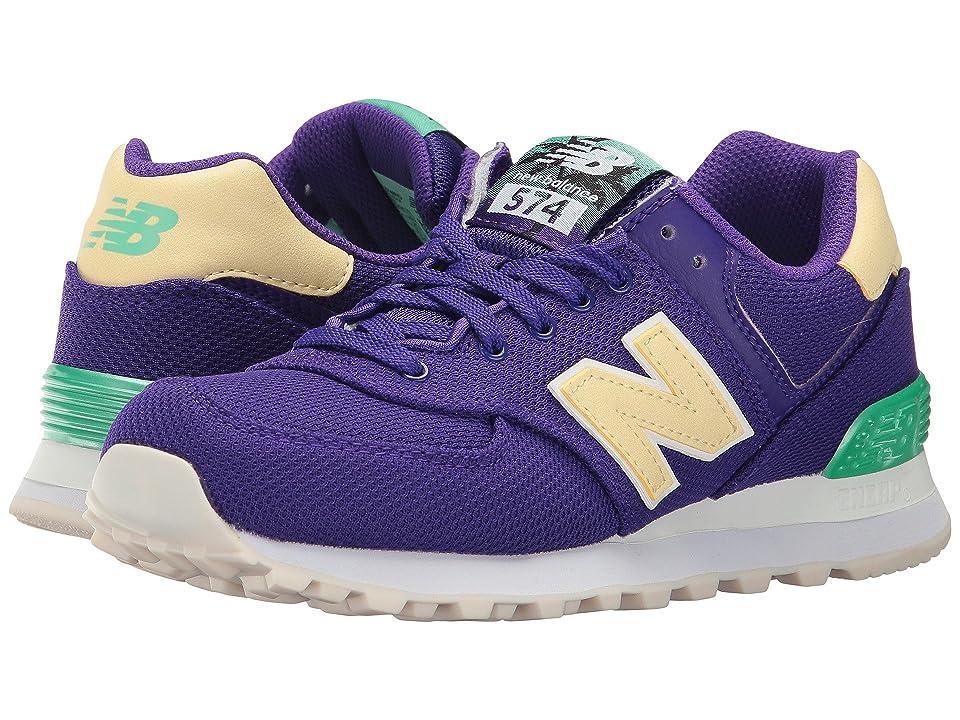 New Balance Classics WL574 - Miami Palms (Deep Violet/Vivid Jade) Women's Shoes
