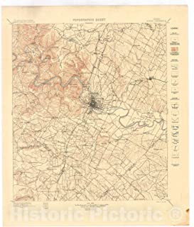 Historic Pictoric Map : Austin Folio, Texas, 1902 Cartography Wall Art : 20in x 24in