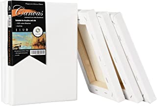 """CONDA Artist Stretched Canvas 5"""" x 7"""" 6 Pack Professional Quality Frame Canvas"""