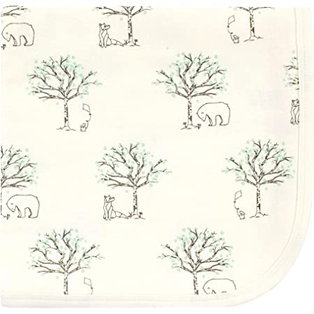 Touched by Nature Unisex Baby Organic Cotton Swaddle, Receiving and Multi-purpose Blanket, Birch Trees, One Size
