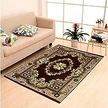 "Dailz Ethnic Velvet Touch Abstract Chenille Thin Carpet/Mat/Dari- 55""x80"", Multicolour"