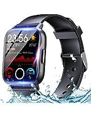 スマートウォッチ Smart watch Bluetooth5.2 腕時計 1.69インチ大画面 DIY表盤 活動量計 万歩計 明度調整 天気予報 遠隔撮影 音楽制御 長い待機時間 GPS搭載 GPS運動記録 運動 IP67防水 着信&メッセージ通知 目覚まし時計 睡眠モニター IOS/Android 対応