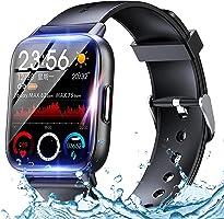スマートウォッチ Smart watch Bluetooth5.2【2021人気 腕時計】 1.69インチ大画面 活動量計 万歩計 GPS運動記録 運動 IP67防水 着信&メッセージ通知 目覚まし時計 睡眠モニター ストップウォッチ...