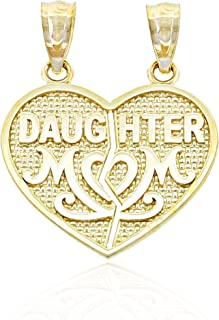 Gold Mom and Daughter Break-Apart Charm - 10 Karat Solid Gold