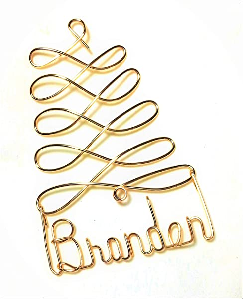 Personalized Christmas Ornament Gold Silver Or Red Tree Any Name Designed Gift Name Tag Custom Name Tree Ornament Personalized Holiday Ornament