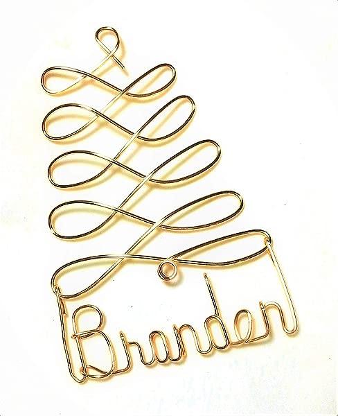 个性化圣诞装饰品金银或红树任意名称设计礼品名称标签定制名称树装饰品个性化节日装饰品