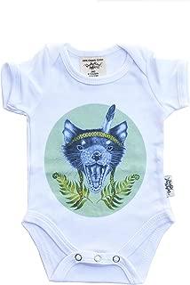 Dusty Road Apparel Australian Made Baby Clothing | Organic Baby Onesies | Tasmanian Devil | 000-1
