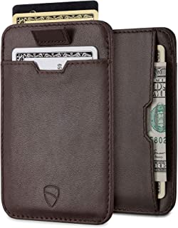 Vaultskin Chelsea ultra-slim leather card-protecting RFID wallet (Brown)