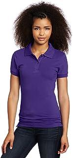Lee Uniforms Juniors Stretch Pique Polo, Purple Medium