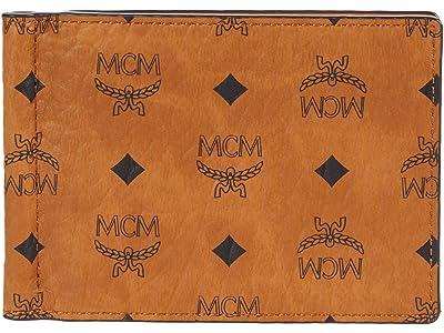 MCM Visetos Original Money Clip (Cognac) Wallet