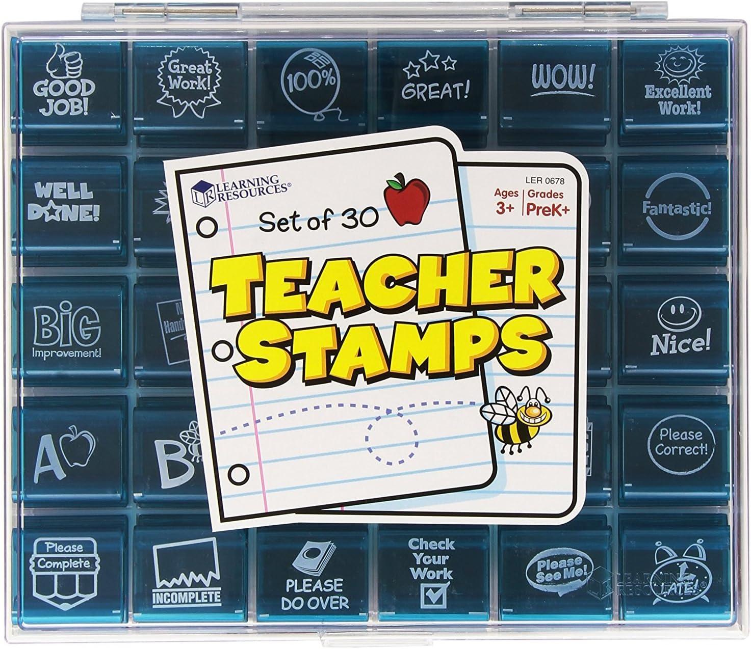 Vintage Highlights Inklings Rubber Stamps Ink Pad Teachers Homeschooling Rewards