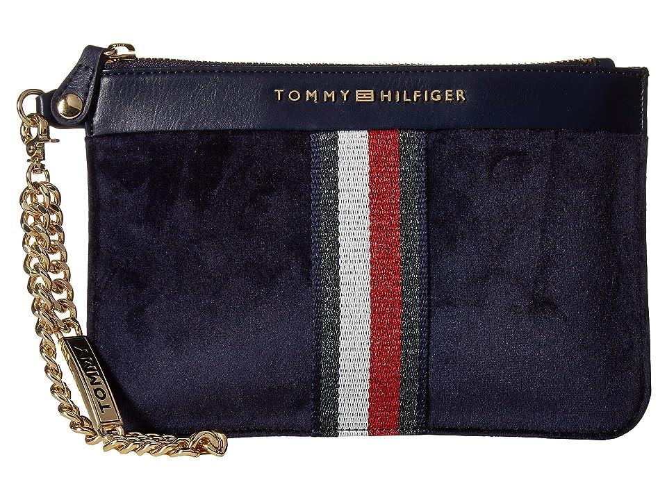 Tommy Hilfiger Serif Wristlet (Tommy Navy) Wristlet Handbags