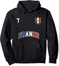 France Hoodie Number 7 Soccer Team Sports French Flag Shirt