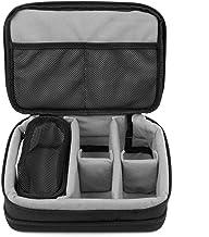 DURAGADGET Gewatteerde zwart-grijs opslag/draagtas met verstelbare verdelers (camera NIET inbegrepen) - compatibel met Vte...