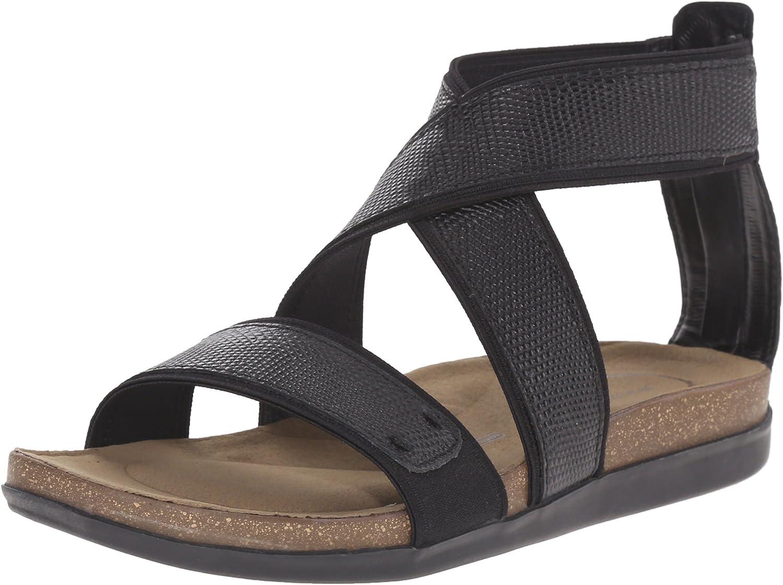 Rockport Women's Total Motion Romilly Back Zip Gladiator Sandal