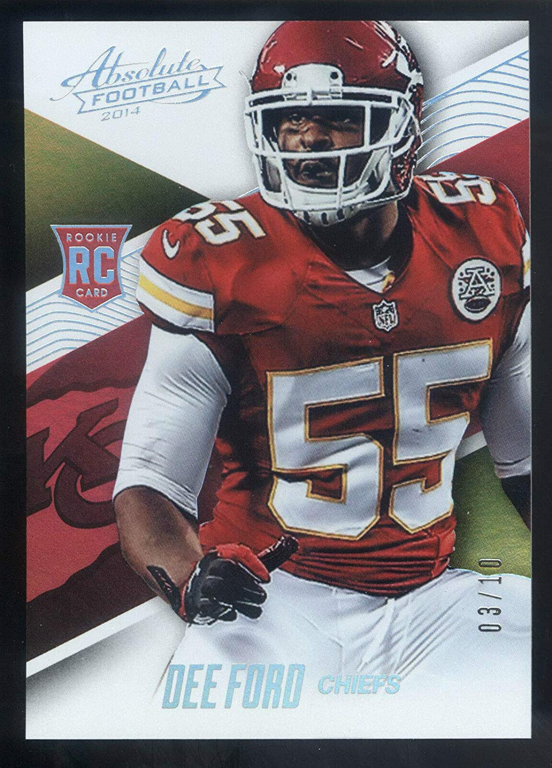 2014 Super beauty product restock quality top Panini Absolute Spectrum SEAL limited product Platinum #03 #109 Dee Ford Rookie