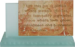 Unique Jerusalem Stone & Glass Home English Blessing From Israel By C.J. CJ Art