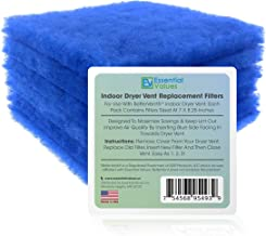 Essential Values 6 Pack Compatible Replacement Filters (30 Dryer Loads) for Bettervent Indoor Dryer Vent