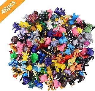 Colfeel Pokémon Mini Figures, 48 Pièces Jouet Pokemon Mignon Mini Figures 2-3cm Action Figurines pour Party Celebration