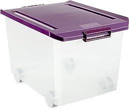 Tatay Storage Box with Wheels, 60 L, Purple, One Size