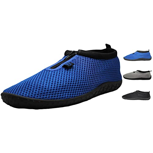 800d44506e74 Greg Michaels Men s Footwear Aqua Socks Front Zippers Rubber Water Shoes -  3 Colors - Sizes