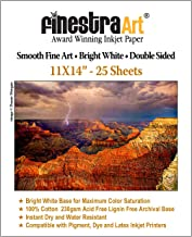 11x14 230gsm Smooth Fine Art Archive Bright White Double Sided 25 Sheets