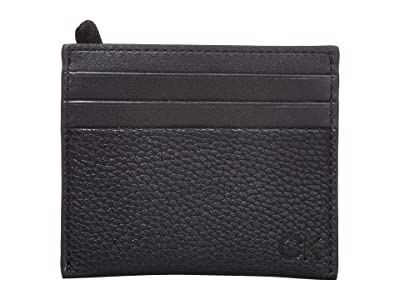 Calvin Klein Pebble Card Case (Black) Handbags