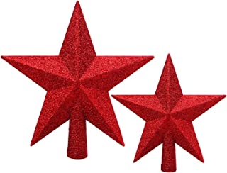 Best christmas tree red star topper Reviews