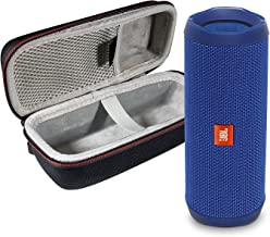 JBL Flip 4 Portable Bluetooth Wireless Speaker Bundle with Protective Travel Case - Blue