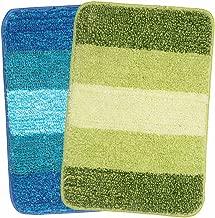 Saral Home Soft Microfiber Bath Mat (Turq-Green, 35x50cm) - Pack of 2