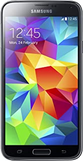 Samsung Galaxy S5 SM-G900T -16GB Black + GSM Unlocked (Renewed)
